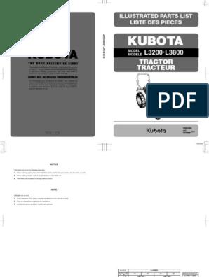 L3800 PARTS LIST (Ingles) (1) pdf | Transmission (Mechanics