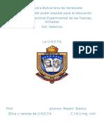 Trabajo de Etia y Valores de La U.N.E.F.a Con C.I.N.U