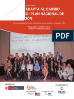 Reporte Final Peru Se Adapta Al Cambio Climatico