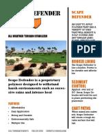 Scape Defender Brochure