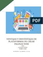 Ventajas y Desventajas de Plataformas de Crear Paginas Web
