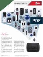 Air4 Home Air4 Home Pro Application List v 1