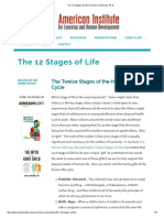 The 12 Stages of Life Thomas Armstrong Ph.D