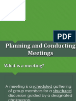 4 Planning and Conducting Meetings