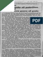 Creacion de Impuesto Al Petroleo en EEUU Seria Grave Para El Pais - El Nacional 03.02.1987