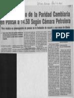 Edgard Romero Nava Imperioso Paso de La Paridad Cambiaria en PDVSA a 14,50 - Ultimas Noticias 08.04.1987