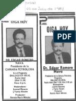 Oiga Hoy a Edgard Romero Nava en El Programa Dialogo en Ideal - Diario El Universal 03.07.1987