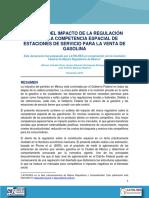 ANALISIS DEL IMPACTO DE LA REGULACION SOBRE LA COMPETENCIA ESPACIAL DE ESTACIONES DE SERVICIO PARA LA VENTA DE GASOLINA.pdf