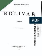 Bolívar, Tomo II - Salvador de Madariaga
