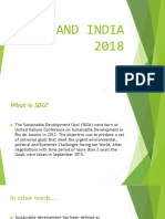 Sdg and India 2018