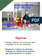Clase 4 Reacciones Químicas y Estequiometría .2018