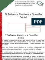 Software Aberto e s Questao Social