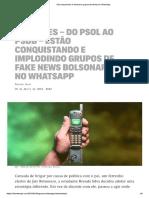 Intercept Eleitores invadem grupos bolsonaristas de fake news no Whatsapp