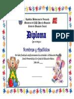 Diploma Borde Rompe Cabeza Con Ratoncito [UtilPractico.com]
