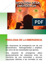 SICOLOGIA DE LA EMERGENCIA