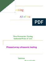 Phased Array Ultrasonic Testing-BLUESTAR