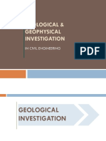 Geological and Geophysical Investigation in Civil Engineering