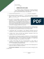 Affidavit of Claim Sample