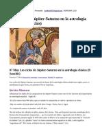 Los Ciclos de Júpiter-Saturno en La Astrología Clásica