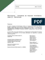 NCh1119-1976 Electrotecnia - Contadores de Induccion Monofasicos
