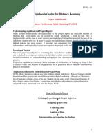 SYMBIOSIS Pune - Digital Marketing - 2018Project_Report_Guidelines_PGCDM