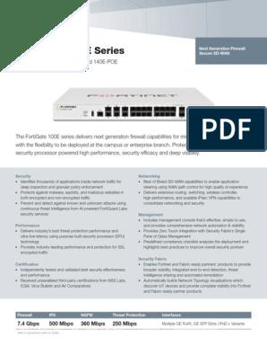 FortiGate 100E Series   Computer Network   Transport Layer