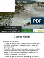 Intro Geochemistry