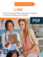 communicating effectively with patients to improve quality and safety