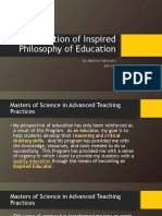 week 3 reflection of inspired philosophy of education- n