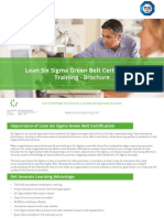 Lean Six Sigma Green Belt Certification Training - Brochure