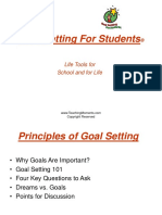 Goal Setting for Students