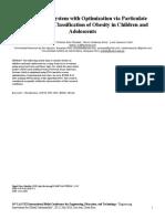 Sistema Neurodifuso con Optimización por Enjambre de Partículas para la Clasificación de la Obesidad en Niños y Adolescentes