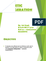 presentation of magnetic refrigeration