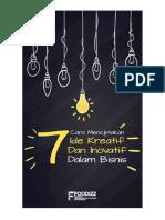 7 Cara Menciptakan Ide Kreatif Dan Inovatif Dalam Bisnis (Foodizz)