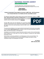 Neet Public Notice