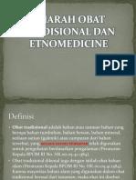 Pertemuan 1 & 2 Sejarah Obat Herbal Tradisional Dan Etnomedicine