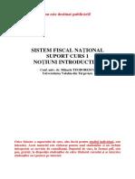 Sistem Fiscal National Suport Curs 1