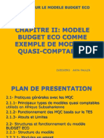 GPE 2009  cours modele Budget eco_Le Modele.ppt