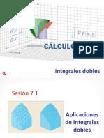 Sesión 7-1 Aplicación Integrales Dobles - MA263 2019-1