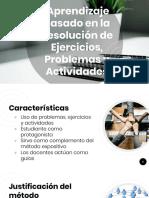 Aprendizaje Basado en la Resolución de Ejercicios, Problemas y Actividades