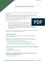 Installing Enterprise Management V12