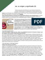 Los Dichos Populares, Su Origen y Significado (II) _ El Trastero de Palacio