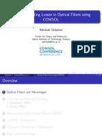Study of Bending Losses in Optical Fibers Using COMSOL