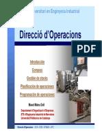 Direccio operacions