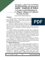 A Study of Jokes