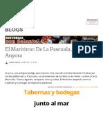 El Marítimo_ de La Pascuala a La Bodega Anyora _ Historias Con Delantal - Blogs Lasprovincias