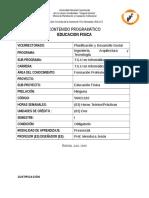 contenido programático de educación física  TSU en Informática UNELLEZ