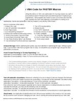17 Ways to Optimize VBA Code for FASTER Macros