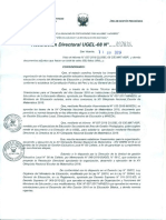RESOLUCIÓN DIRECTORAL UGEL 08 N° 3634-2018 XV ONEM
