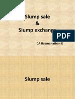 slump sale and slump exchange explained